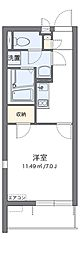 大阪モノレール本線 南茨木駅 徒歩13分の賃貸マンション 2階1Kの間取り