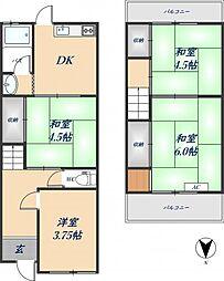 稲葉1丁目戸建て 1階4DKの間取り