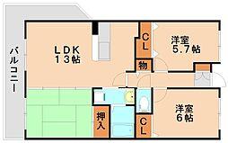 第2世利ビル[3階]の間取り