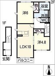 Cerfeuil D[2階]の間取り