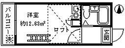 ライフピアビリーブ[2階]の間取り