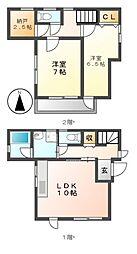 [一戸建] 愛知県名古屋市中川区上高畑2丁目 の賃貸【/】の間取り