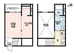 愛知県名古屋市南区鶴里町3の賃貸アパートの間取り