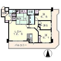 アメニティ南草津3[9階]の間取り