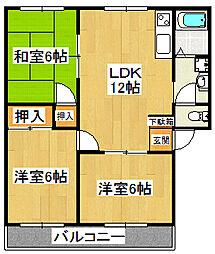 MMホーム[203号室]の間取り