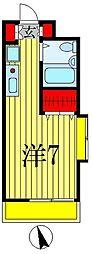 ジュネパレス松戸第41[2階]の間取り
