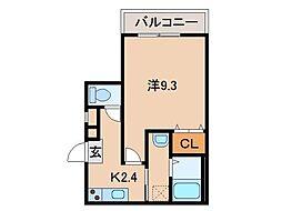 和歌山県和歌山市吹屋町5丁目の賃貸アパートの間取り