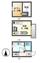 仮)アースクエイク井戸田[1階]の間取り