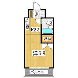 プルーリオン竹鼻[5階]の間取り