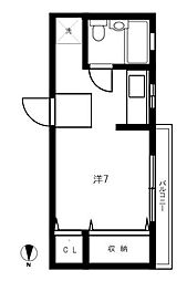 東京都江東区常盤2丁目の賃貸マンションの間取り