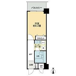 ライオンズマンション金沢香林坊[1階]の間取り