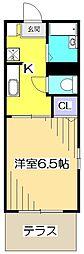 東京都国分寺市泉町1丁目の賃貸アパートの間取り