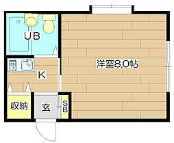 コーポ朝風[2階]の間取り