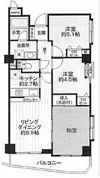 ライオンズマンション町田駅前[5階]の間取り