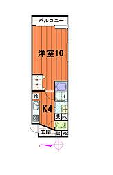 K・クレール[1001号室]の間取り
