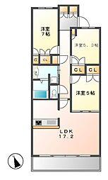プライムメゾン富士見台[3階]の間取り