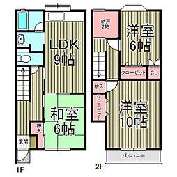 [テラスハウス] 神奈川県鎌倉市台5丁目 の賃貸【/】の間取り