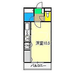 ウエストグランコート[1階]の間取り