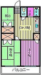 第2静和荘 高鼻[2階]の間取り