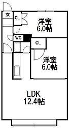瀬比亜館セゾンI[105号室]の間取り