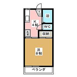 プレーンハイツ[2階]の間取り