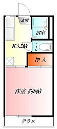 前田ハイツ CATV[1階]の間取り