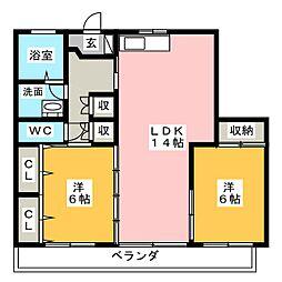 メゾンドヴェール[3階]の間取り