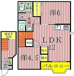 フェンテK[2階]の間取り