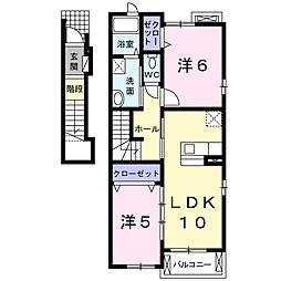 シャマントゥ[2階]の間取り
