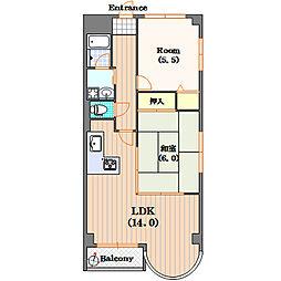 SKパレス道頓[10階]の間取り