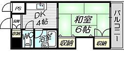 グレイスフル中崎1[4階]の間取り
