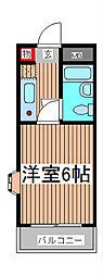 ソシアーレミラン武蔵浦和[3階]の間取り