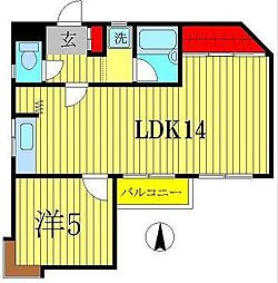 第1長谷川マンション[202号室]の間取り