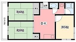 甲林ビル[2階]の間取り
