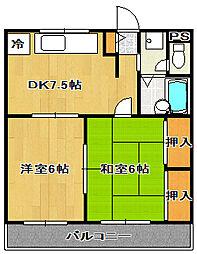 千葉県船橋市本町5丁目の賃貸マンションの間取り