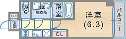 JR東海道・山陽本線 神戸駅 徒歩6分の賃貸マンション 8階1Kの間取り