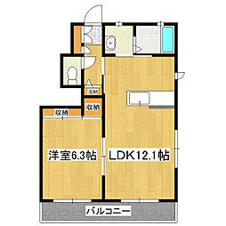 ベル タウン II棟[1階]の間取り