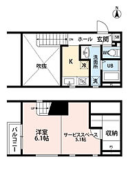 福岡県福岡市東区和白丘3丁目の賃貸アパートの間取り