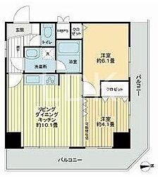 東京都足立区東和5丁目の賃貸マンションの間取り