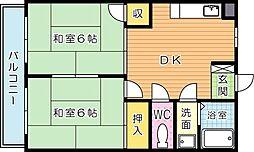 シャトレ引野[3階]の間取り