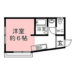 岐阜県瑞穂市別府の賃貸アパートの間取り