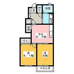 セレーノI[1階]の間取り