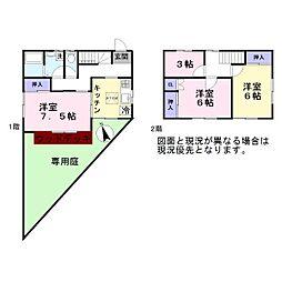 [一戸建] 埼玉県越谷市大字恩間 の賃貸【/】の間取り