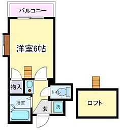 ロフトアビックス[6階]の間取り