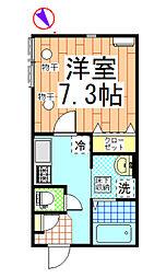 コンフォート松波[101号室]の間取り