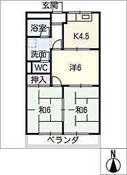 エトワールハイム[2階]の間取り