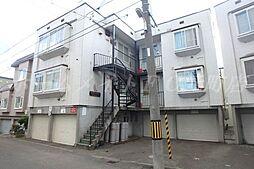 北海道札幌市東区北十四条東14の賃貸アパートの外観
