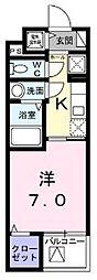 シェモワ 八尾[101号室]の間取り