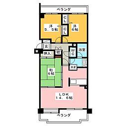 ロイヤルコンフォート日進 702号室[7階]の間取り
