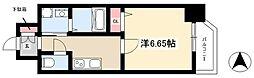 第18金山フクマルビル 3階1Kの間取り